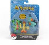 Pokemon Figuren  set -Groyvle - Combusken - Marshtomp - Tomy