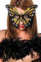 Masker vlinder groot goud