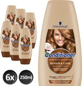 Schwarzkopf Repair & Care Conditioner 250 ml - 6 stuks - Voordeelverpakking