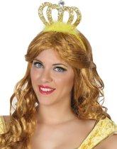 Goudkleurige prinses tiara voor volwassenen - Verkleedattribuut