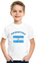 Kinder t-shirt vlag Argentina Xs (110-116)