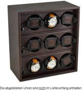 Scatola del Tempo Watchwinder Rotor Cornice 9 OS Dark Brown