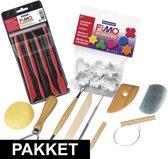 Verschillende gereedschappen voor boetseren met klei 18-delig