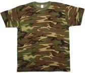 Camouflage t-shirt korte mouw