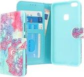 CaseBoutique Huawei P10 Lite hoesje blauw kunstleer