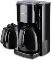 Korona 10311 zwarte koffiezetapparaat incl 2 thermoskannen