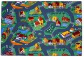 Vloerkleed - Little village – Verkeerskleed - 95 x 200cm