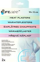 Warmte Pleister | Stijve Spieren | Stijve Nek | Warmtepleister | Rekbaar | Spier Pleister | 18 x 12 CM | 2 Stuks