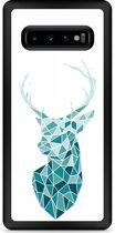 Galaxy S10 Plus Hardcase hoesje Art Deco Deer