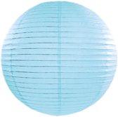 Decoratieve lampion licht blauw 20cm