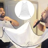 Beard Bib – haren opvangen tijdens het trimmen van uw baard - wit