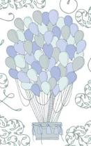 Blue & Gray Hot Air Balloon - Lined Notebook with Margins - 5x8