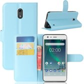 Nokia 2 Book Case Hoesje - Lichtblauw