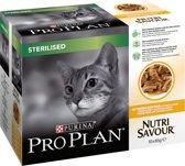 Pro Plan Kat Sterilised Nutrisavour - Kip - Kattenvoer - 10 x 85 g