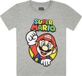 Super Mario Jongens T-shirt - grijs - Maat 128