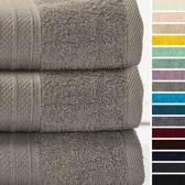 Lumaland - Handdoeken - Set van 3 badhanddoeken - 70x140 cm - Taupe