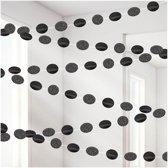 6 String Decorations Glitter Black 213 cm
