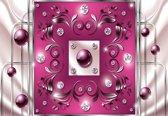 Fotobehang Pink Diamond Abstract Modern | M - 104cm x 70.5cm | 130g/m2 Vlies