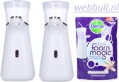 2 xDettol Dispenser Foam Magic  + Vulling Orchid 200 ml