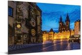 De Tyn-kerk op het Oude Stadsplein in Praag Aluminium 180x120 cm - Foto print op Aluminium (metaal wanddecoratie) XXL / Groot formaat!