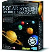 4M Kidzlabs Space Bouwset - Zonnestelselmobiel Glim-In-Het-Donker