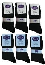 %100 Katoen NAFT sokken 10 paar  ( zwart )  43-46