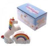 Peper en zout stel unicorn - eenhoorn met regenboog
