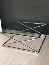 Vierkante Salontafel Met Glas.Bol Com Glazen Vierkante Salontafel Kopen Kijk Snel