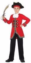 Engelse marine kostuum voor jongens - piraten / maritiem 128 (7-9 jaar)