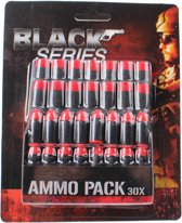 Toi-toys Black Series Munitieset 30-delig Zwart/rood