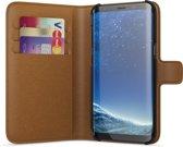 BeHello Samsung Galaxy S8 Hoesje - Wallet Case Met Ruimte Voor 3 Pasjes Bruin
