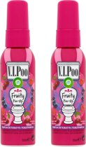 Air Wick VIPoo Fruity Pin-Up - Toiletverfrisser - 2 x 55 ml