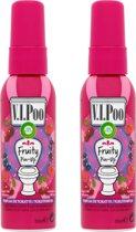 Air Wick VIPoo Fruity Pin-Up - Toiletverfrisser - 2 x 55 ml