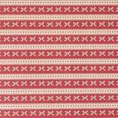 Rood en strikjes luxe kadopapier cadeaupapier inpakpapier - 200 x 70 cm - 3 rollen