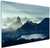 FotoCadeau.nl - Guanabara baai Rio de Janeiro Glas 90x60 cm - Foto print op Glas (Plexiglas wanddecoratie)
