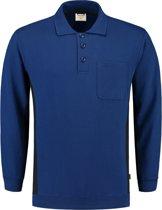 Tricorp polosweater Bi-Color - Workwear - 302001 - koningsblauw-navy - maat XL