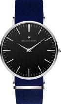 Wallace Hume Zwart - Horloge - NATO - Blauw