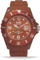 Tutti Milano TM002BR-Horloge -   42.5 mm - Bruin - Collectie Pigmento