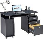 Piranha EMPEROR Bureau - Antraciet - Zwart - Laden - Opbergkast - PC 2g
