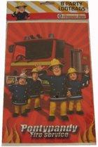 Set 8 uitdeelzakjes van Brandweerman Sam