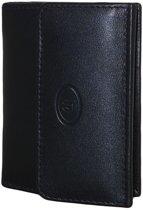 LD-Figuretta-Compacte Billfold - Portemonnee-RFID-zwart-leder-met Kaarthoudervak Zwart