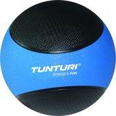 Tunturi  Medicine Ball - Medicijnbal - Crossfit ball - 4 kg - Blauw/Zwart Rubber