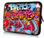 Laptophoes 14 inch hiphop graffiti - Sleevy