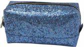 Studio Sweet & Sour Make-up bag square medium / blue glitter / PU