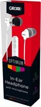 Grixx Optimum In-Ear headset - wit - 1,2 meter