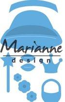 Marianne Design Creatable Mal Kims BudMal girl set LR0476 8.0x16.0 centimeter