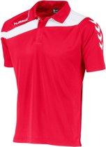 Hummel Elite Voetbal Polo - Shirts  - rood - L
