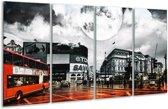 Glasschilderij Modern | Rood, Grijs, Zwart | 160x80cm 4Luik | Foto print op Glas |  F004416
