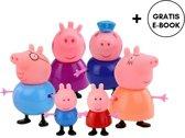 Peppa Pig Familie | Complete Gezin + Opa en Oma | 6 stuks | Speelfiguren | Speelsets | Peppa Pig |George Pig