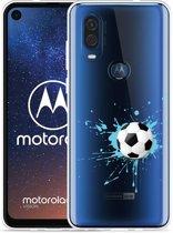 Motorola One Vision Hoesje Soccer Ball